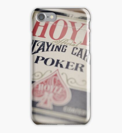 Grandfather's Playing Cards iPhone Case/Skin