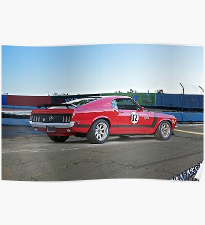 1970 Ford Mustang Boss 302 III Poster