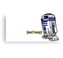 R2-D2 sad-beep Canvas Print