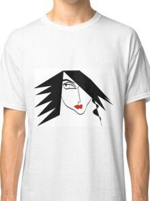 Womens Portrait ILLustration Classic T-Shirt