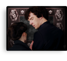 You flirted with Sherlock Holmes? Canvas Print