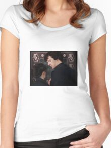 You flirted with Sherlock Holmes? Women's Fitted Scoop T-Shirt