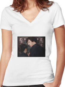 You flirted with Sherlock Holmes? Women's Fitted V-Neck T-Shirt