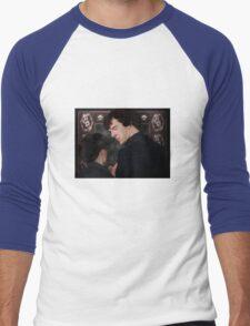 You flirted with Sherlock Holmes? Men's Baseball ¾ T-Shirt