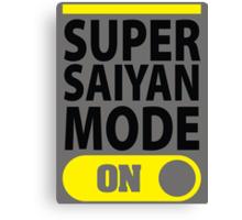Super Saiyan Mode On Canvas Print