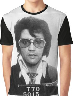 Elvis - Mug Shot Graphic T-Shirt