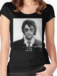 Elvis - Mug Shot Women's Fitted Scoop T-Shirt