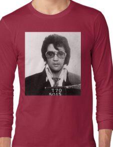 Elvis - Mug Shot Long Sleeve T-Shirt