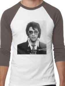 Elvis - Mug Shot Men's Baseball ¾ T-Shirt