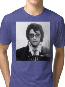 Elvis - Mug Shot Tri-blend T-Shirt