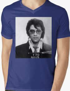 Elvis - Mug Shot Mens V-Neck T-Shirt