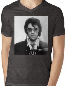 Elvis - Mug Shot Mens V-Neck T-Shirt