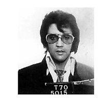 Elvis - Mug Shot Photographic Print
