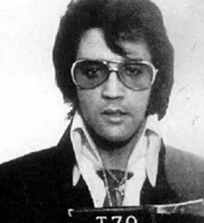 Elvis - Mug Shot Sticker