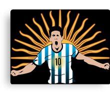 Messi Man Canvas Print