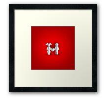 Valentines heart Framed Print