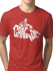 Canada White Tri-blend T-Shirt