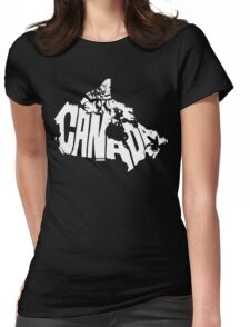 Canada White Womens Fitted T-Shirt