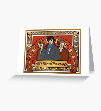 The Crime Fighters Greeting Card