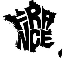 France Black Photographic Print