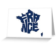 France Blue Greeting Card