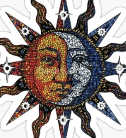 Sun and Moon. Sticker
