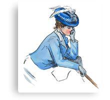 Art Nouveau Lady Blue Canvas Print