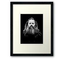 Rick Rubin - DEF JAM shirt Framed Print
