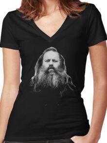 Rick Rubin - DEF JAM shirt Women's Fitted V-Neck T-Shirt