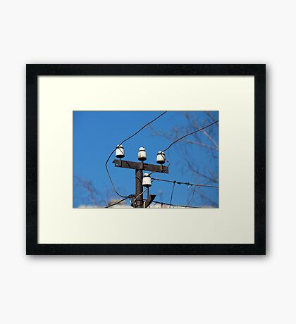 electric wires Framed Print