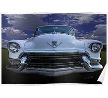 55 Cadillac Down Inna Meadow Up In Kerrville Poster