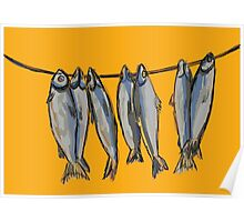 Dried fish for beer lovers Poster