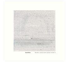 Brand New lyric sheet Art Print