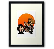 Lion, Cat, Biker - Motorcycles, Motorcycle Gear, Bikes Framed Print