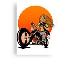 Lion, Cat, Biker - Motorcycles, Motorcycle Gear, Bikes Canvas Print