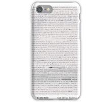 Brand New lyric sheet iPhone Case/Skin