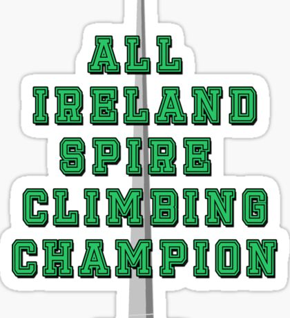 All Ireland Spire Climbing Champion (Green) Sticker