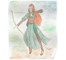 Watercolour Tauriel sketch - The Hobbit Poster