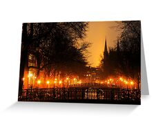 Amsterdam Nightscape Greeting Card