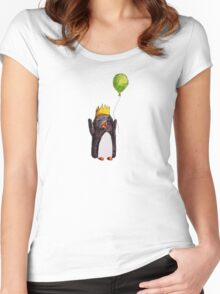 Happy Penguin Women's Fitted Scoop T-Shirt