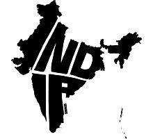 India Black Photographic Print