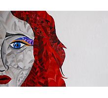 Red haired woman Photographic Print