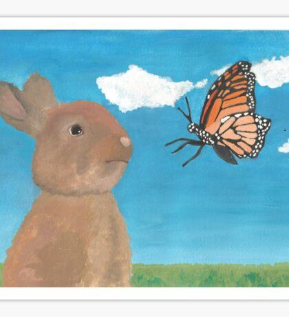 Mr Rabbit Finds a Butterfly Sticker