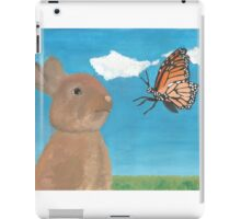 Mr Rabbit Finds a Butterfly iPad Case/Skin