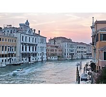 Venice Sunset Photographic Print