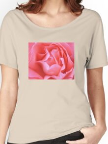 Hot Pink Petals Macro  Women's Relaxed Fit T-Shirt