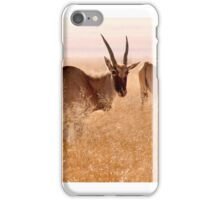 Backlit Eland - Drakensberg, South Africa iPhone Case/Skin