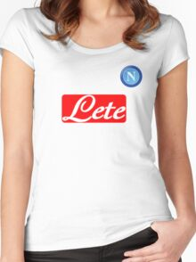 ssc napoli serieA Women's Fitted Scoop T-Shirt