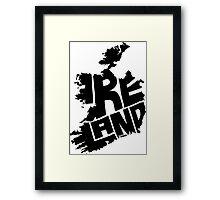 Ireland Black Framed Print