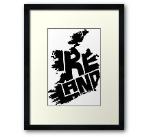 Ireland Black Framed Print
